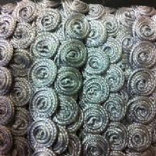 Silver Grey Spiral Braid 15mm x 1m